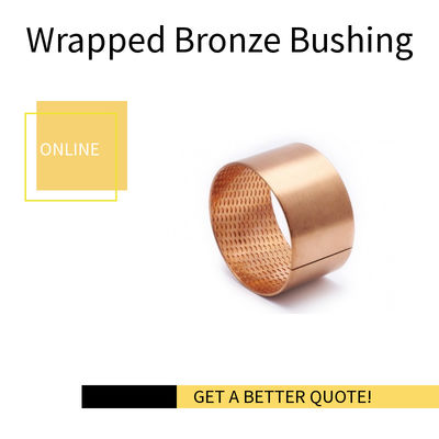 Wrapped Perforated Bronze Bushing | CuSn8 Material